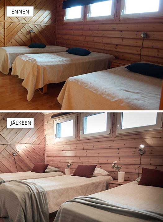 ennen-jälkeen-makuuhuone3-rukavuosselinkartano
